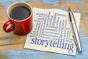 Content marketing and story telling.